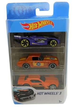 Conjunto 3 Carros Hot Wheels 3 - Mattel