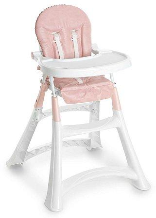 Cadeira de Alimentação Premium (até 15 kg) - Rosa - Galzerano