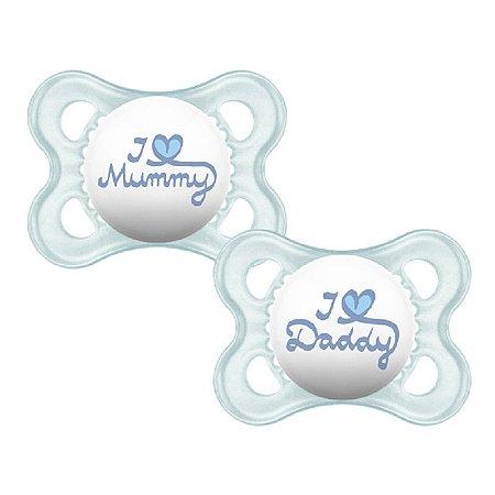 Chupeta MOM & DAD (0-6 meses) Embalagem Dupla - Azul - MAM
