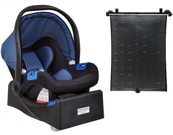 Conjunto de Bebê Conforto Touring X com Base e Protetor Solar - Azul