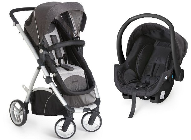 Carrinho de Bebê Travel System Maly (até 15 kg) - Preto - Dzieco