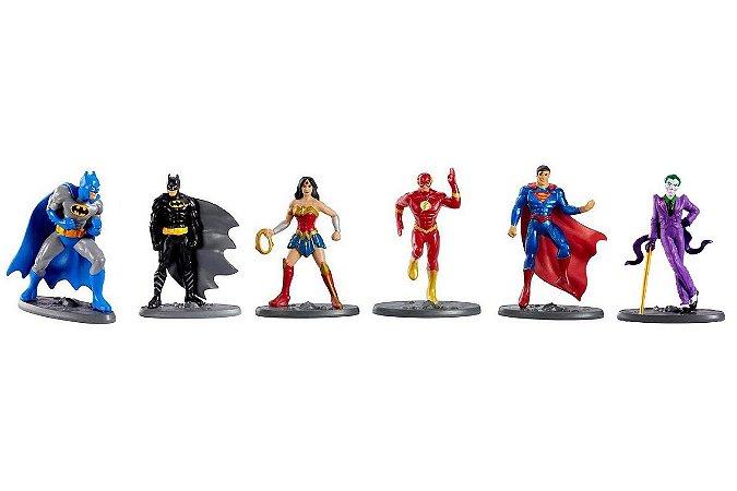 Conjunto de Mini-Figuras - Liga Da Justiça - DC Comics - Mattel
