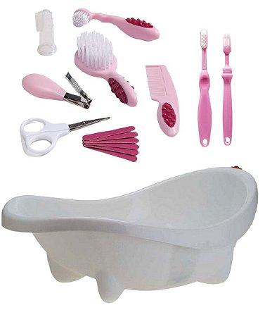 Conjunto de Higiene com Banheira Laguna - Rosa