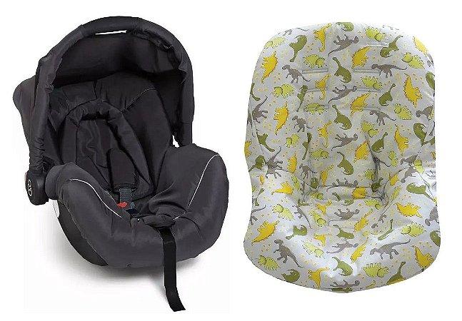 Conjunto de Bebê Conforto Piccolina com Capa Dino (até 13 kg) - Preto