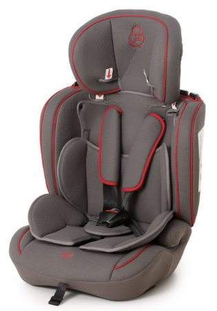 Cadeira para Carro Ravi (até 36 kg) - Grafite e Vermelho - Galzerano