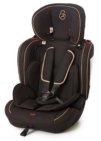 Cadeira para Auto Ravi (até 36 kg) - Preto e Caramelo - Galzerano