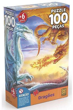 Quebra Cabeça Dragões 100 Peças - Grow