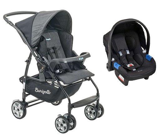 Carrinho de Bebê Travel System Rio K (até 15 kg) - Preto - Burigotto