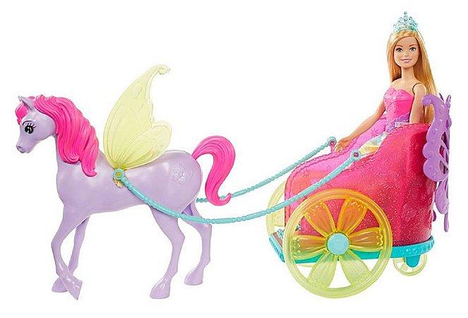 Barbie Dreamtopia (+3 anos) - Princesa com Carruagem - Mattel