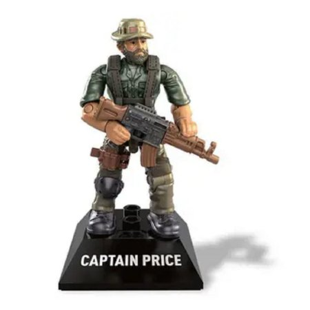 Boneco de Ação Mega Construx - Capitão Price - Call Of Duty - Mattel