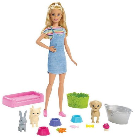 Barbie Sisters & Pets (+3 anos) - Banho nos Pets - Mattel