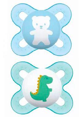 2 Un. Chupeta Start Tam.1 (+0M) - Ursinho e Dinossauro - MAM