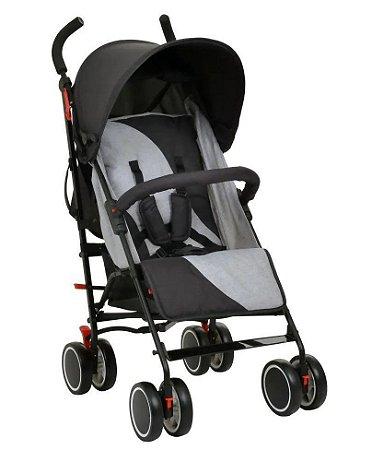 Carrinho de Bebê Urbi (até 15 kg) - Cinza - Burigotto