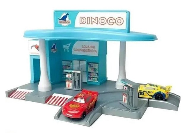 Pista de Posto de Gasolina Relâmpago McQueen (+3 anos) - Carros - Disney - Toyng