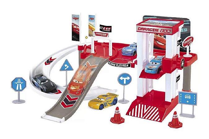 Pista de Corrida Garagem McQueen e Cruz (+3 anos) - Carros - Disney - Toyng