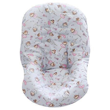 Capa de Bebê Conforto de Malha - Bailarina - Minha Casa Baby