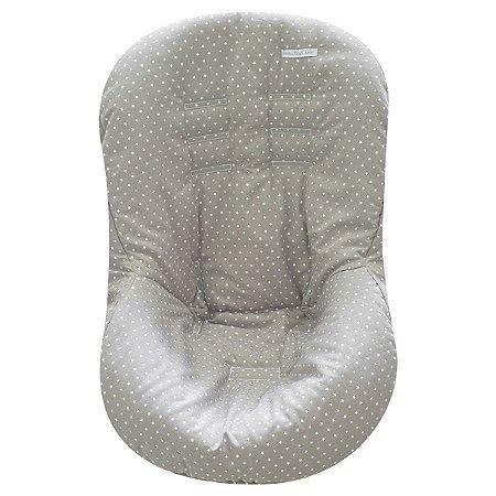 Capa de Bebê Conforto de Malha - Estrela Cinza - Minha Casa Baby