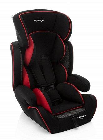 Cadeira para Auto Alfa (até 36 kg) - Preto e Vermelho - Voyage