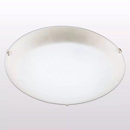 Plafon Redondo 30cm 2xe27 Branco Cristal Blumenau
