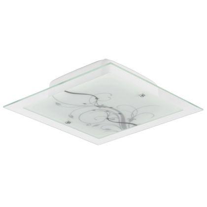 Blumenau - Plafon  Quad 30cm Led 20W Vd Floral Ac Cristal Led