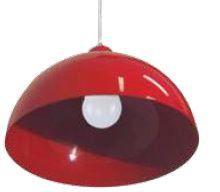 Pendente Cúpula Red. 29cm 1xE27 Vermelho - Blumenau