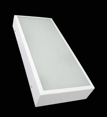 Plafon Retangular 60x25cm Branco Tampa Acrílico