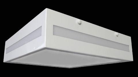 Plafon Quadrado 30cm Branco Rasgo Lateral