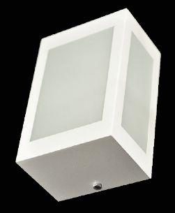 Arandela Retangular Simples Branca 3 Vidros