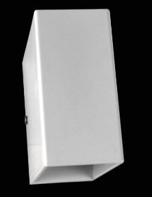 Arandela  Retangular 9x8x4cm Branco Fosco sem vidro Led