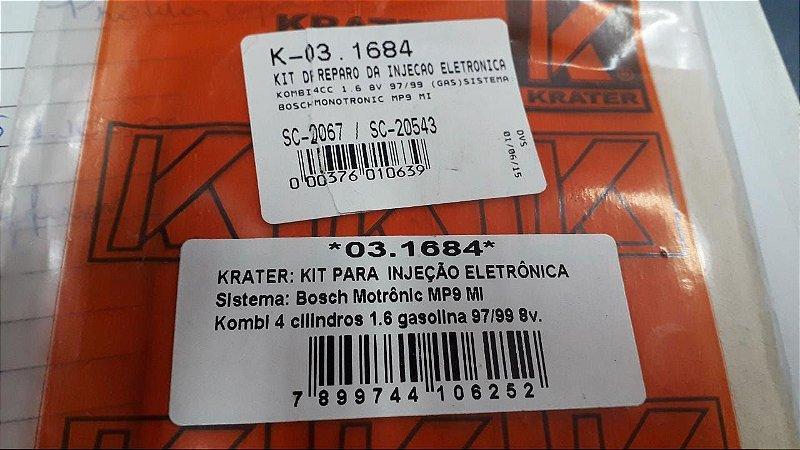 KIT DE REPARO DA INJEÇÃO ELETRÔNICA KOMBI 4CC 1.6 GASOLINA 97/99 8V.