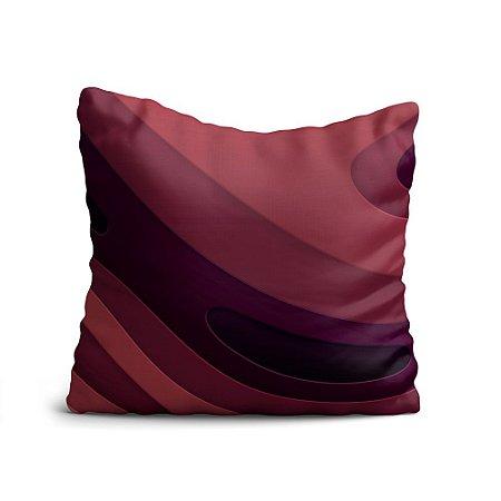 Almofada Yuzo Avulsa 45x45cm Abstrato Vermelha