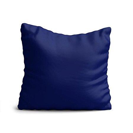 Almofada Yuzo Avulsa 45x45cm Azul Lisa