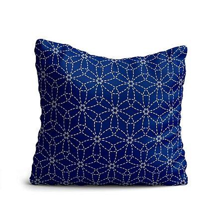 Almofada Yuzo Avulsa 45x45cm Geométrica Azul