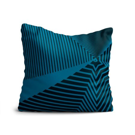 Almofada Yuzo Avulsa 45x45cm Geométrica Azul Escuro