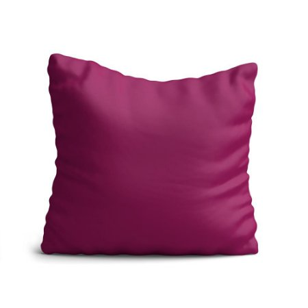 Almofada Yuzo Avulsa 45x45cm Rosa Escuro Lisa