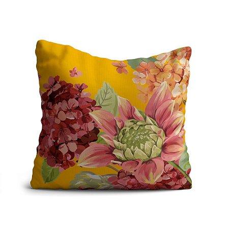 Capa de Almofada Yuzo Avulsa 45x45cm Floral Colorida