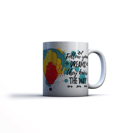 Caneca Yuzo 23x9,5cm Follow Your Dreams