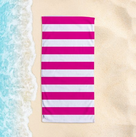 Toalha de Praia Yuzo 70x140cm Listrada Rosa