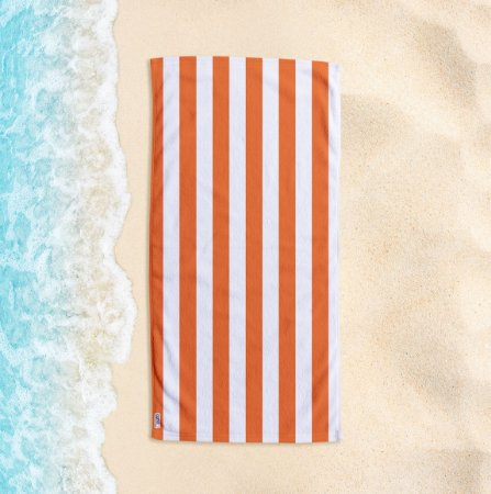 Toalha de Praia Yuzo 70x140cm Listrada Laranja