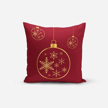 Almofada de Natal Avulsa Yuzo 45x45cm Estampa Natal Vermelho