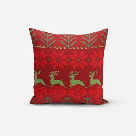 Almofada de Natal Avulsa Yuzo 45x45cm Estampa Abstrato
