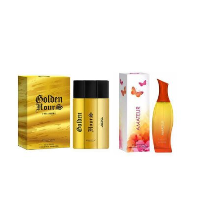Kit 2 Perfumes Entity Feminino e Masculino Eau de Toilette 100 ml