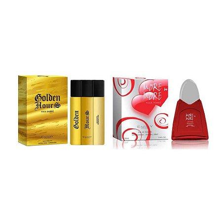 Kit 2 Perfumes Feminino e Masculino Eau de Toilette 100 ml