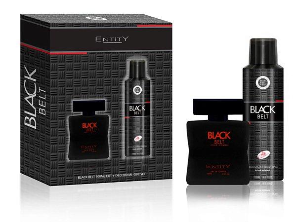 ESTOJO PARA PRESENTE BLACK BELT POUR HOMME  EDT 100 ML + DEO 200ML