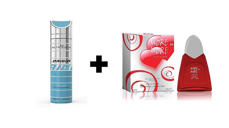 Desodorante Spray Alta Moda Origin 200 ml + Perfume Entity More In More 100 ml