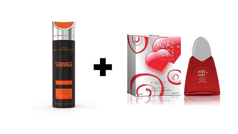 Desodorante Spray Alta Moda Sauvage 200 ml + Perfume Entity More In More 100 ml