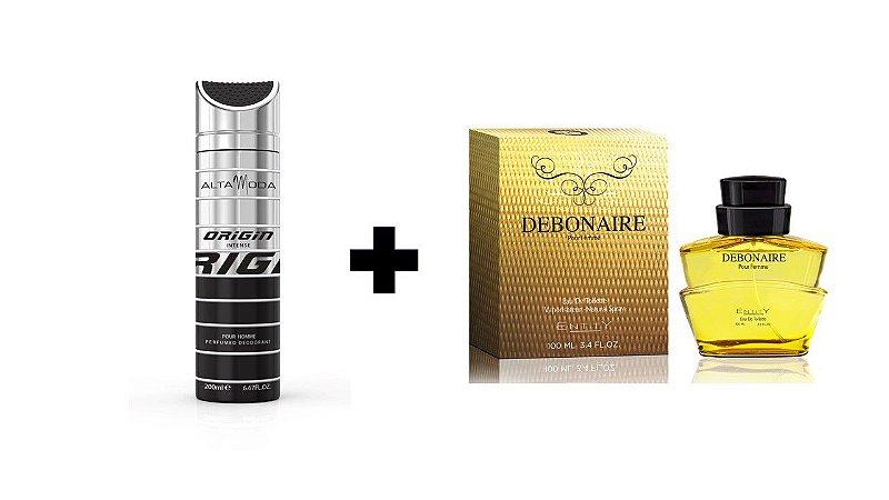 Desodorante Spray Alta Moda Intense 200 ml + Perfume Entity Debonaire 100 ml