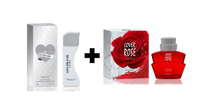 Perfume Entity Love For Ever 30ml + Perfume Entity Lover Rose 100 ml