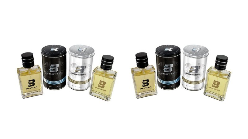 KIT BOXTER 4 PÇS BLACK E WHITE 2 DE CADA 100 ML - LATA METAL