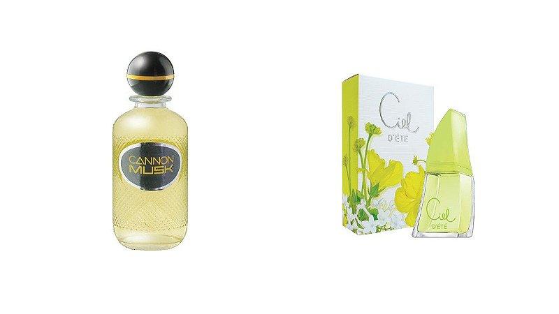 Kit Perfume Cannon Musk Eau De Cologne 250ml + Ciel D Ete 50 ml